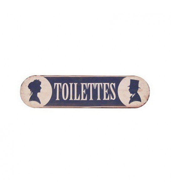 Wall Plate Metal Vintage Toilettes - 50.5cm