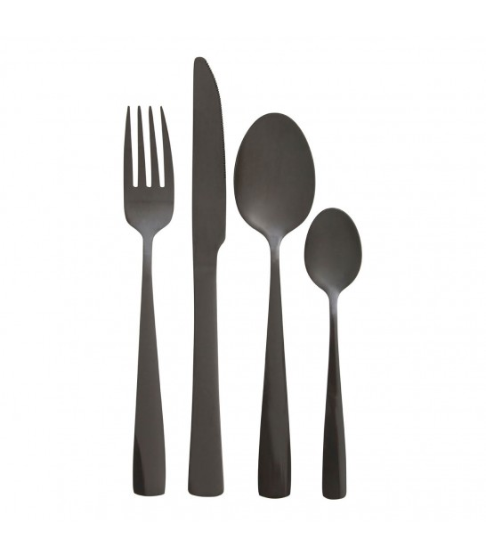 Black Table Cutlery - 16 Pieces