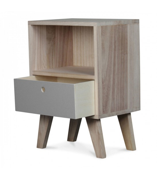 Design Wooden Nightstand - Height 50cm
