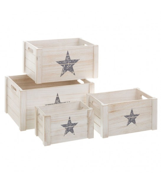 Children Storage Box Star - Set of 4