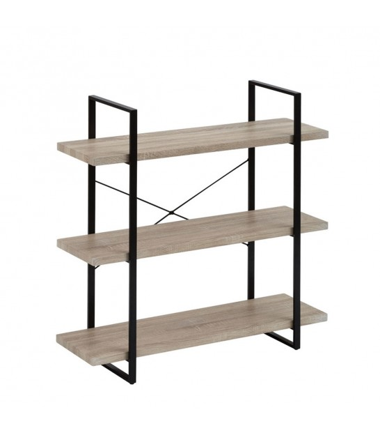 Shelf Black Metal and PVC - 4 Shelfs