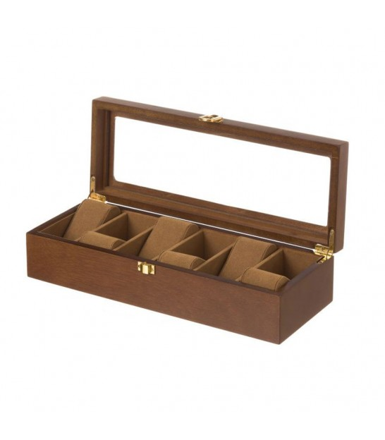 Wooden Storage Box For 6 Watches