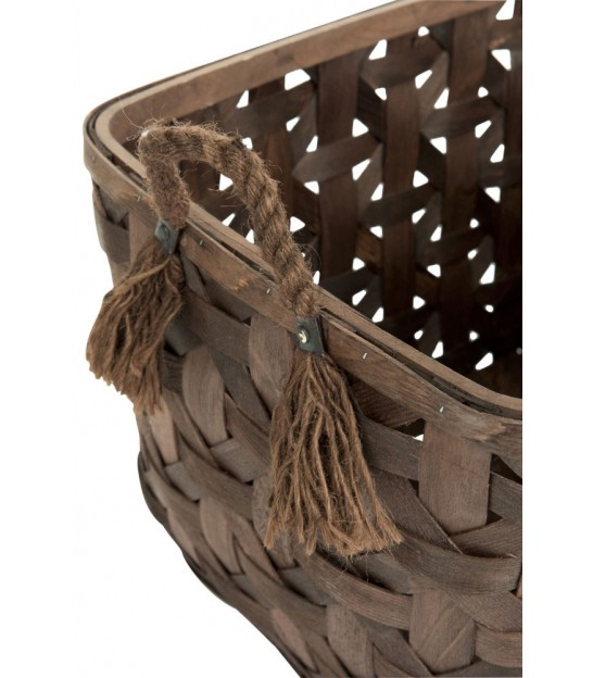 Set of 2 Wooden Baskets