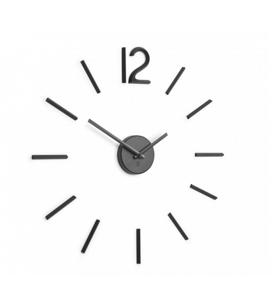 Wall Clock Black Aluminium