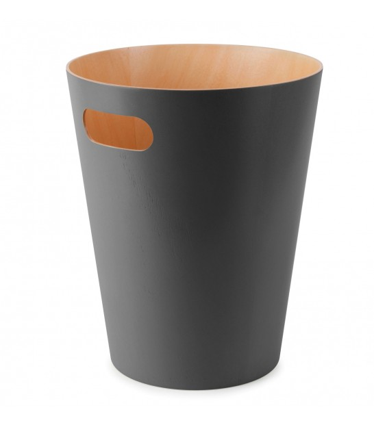 Grey Charcoal Waste Basket Wood