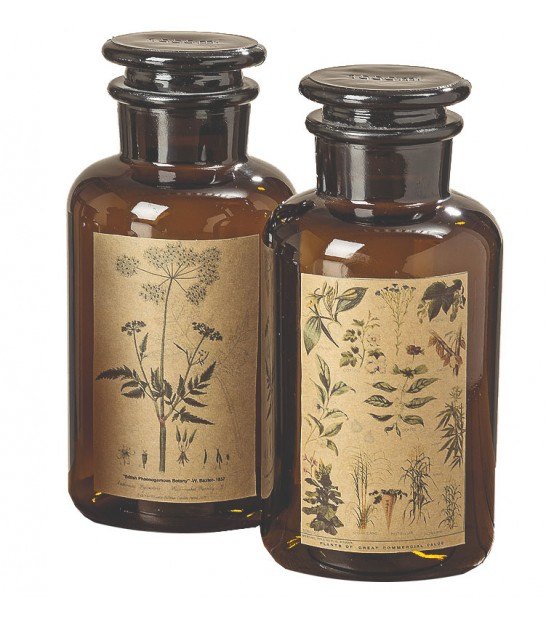 Set of Two Apothecary Bottles - 22cm