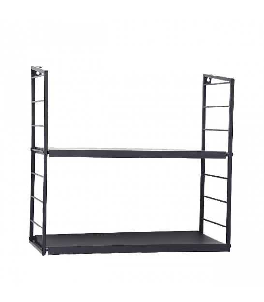 Wall Shelf Black Metal Minimalist