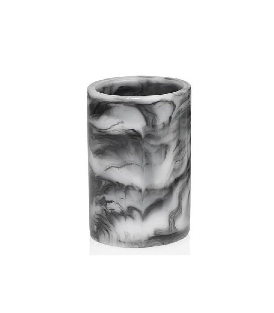 Toothbrush Holder Resin Black Marble Effect