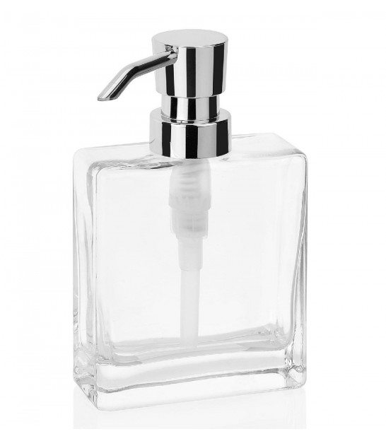 Soap Dispenser Clear Glass - height 15cm