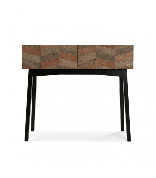 Console Table Wood Black