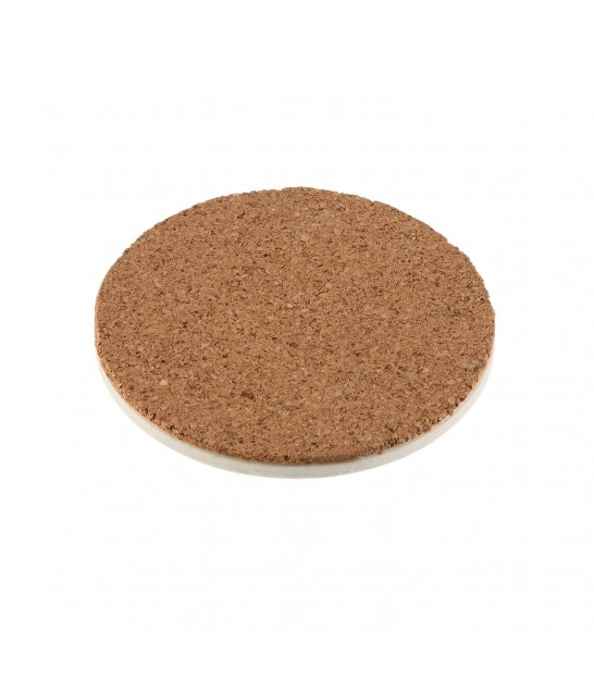 Set of 6 Coasters Square Fake Leather
