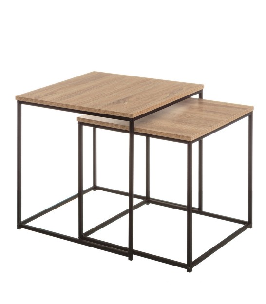 Nesting Table - MDF and Black Metal