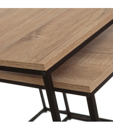 Nesting Table Mdf And Black Metal