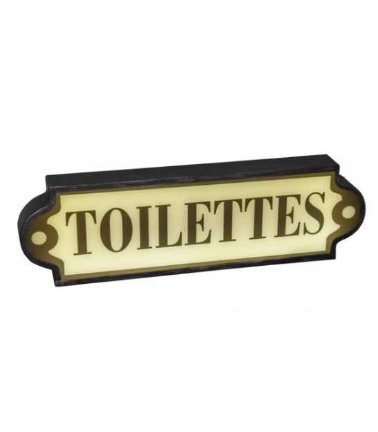 Wall Toilet Nameplate Black and White Metal