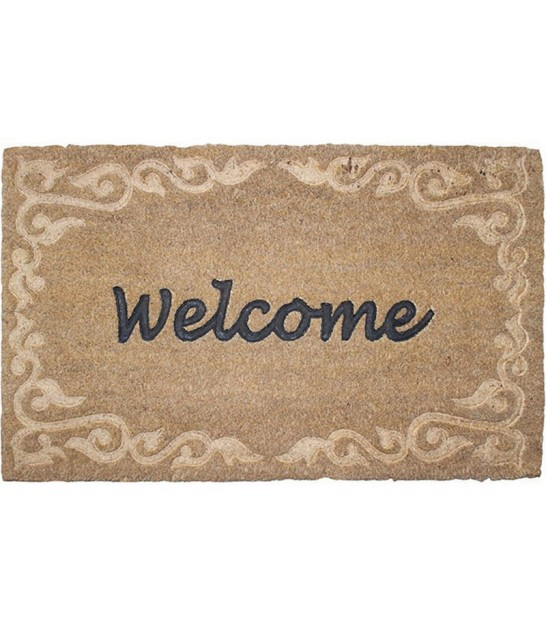 Paillasson Coco Relief Welcome - 60x40cm