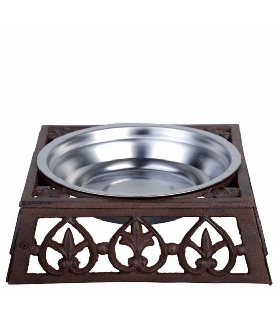 Dog Bowl Cast Iron and Stainless Steel