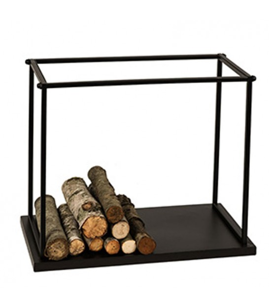 Log Holder Black Metal