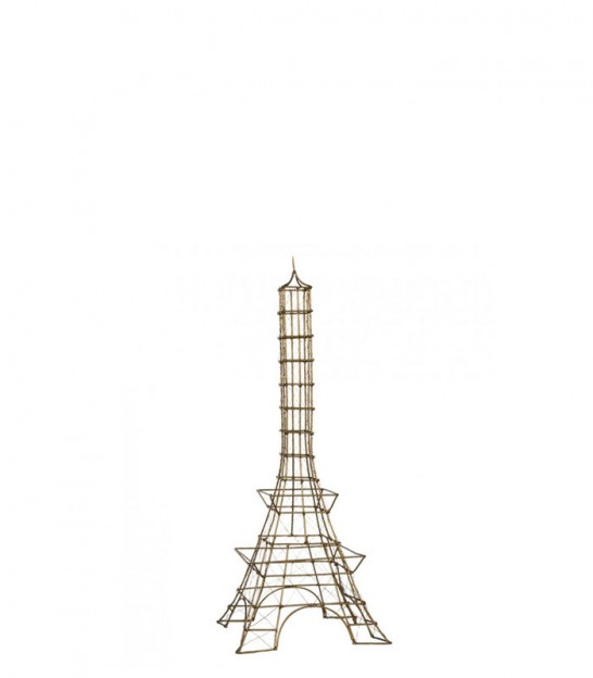 Eiffel Tower Golden Metal - Height 60cm