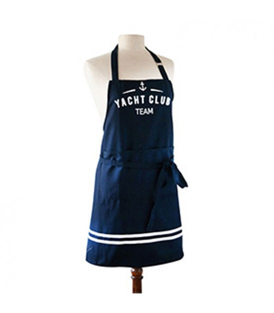Kitchen Apron Blue and White 100% Cotton