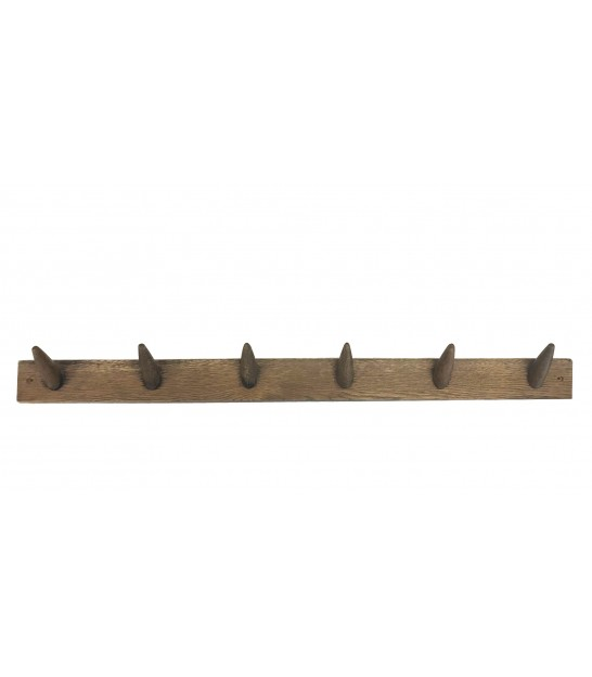 Wall Coat Rack Oak - Length 95cm