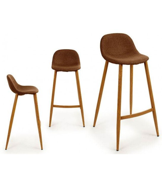 Bar Stool Wood and Grey Tissue