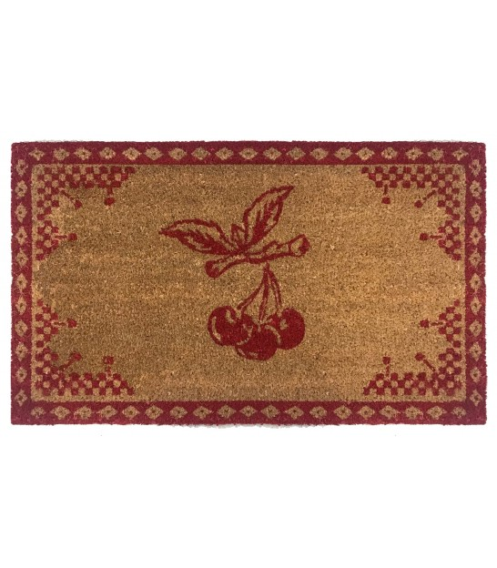 Coco Doormat Red Checkered Cherry