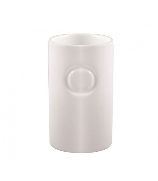 Bathroom Tumbler Faience White Circle