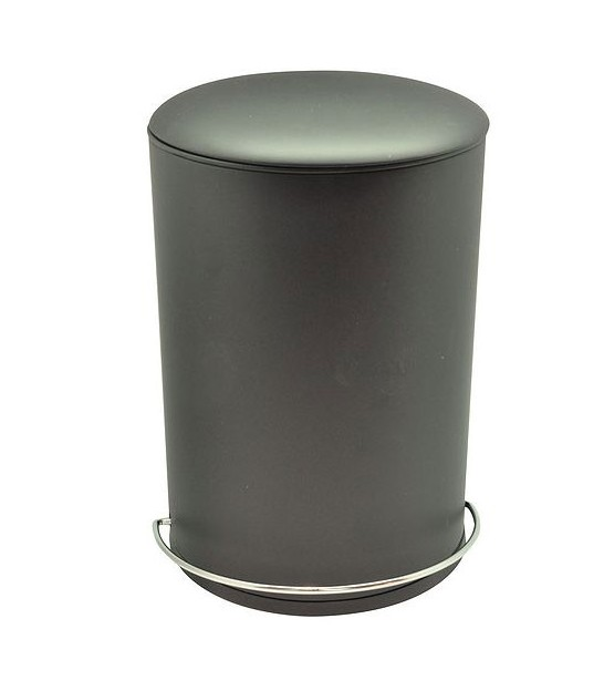 Bathroom Dust Bin Metal Black - 5L