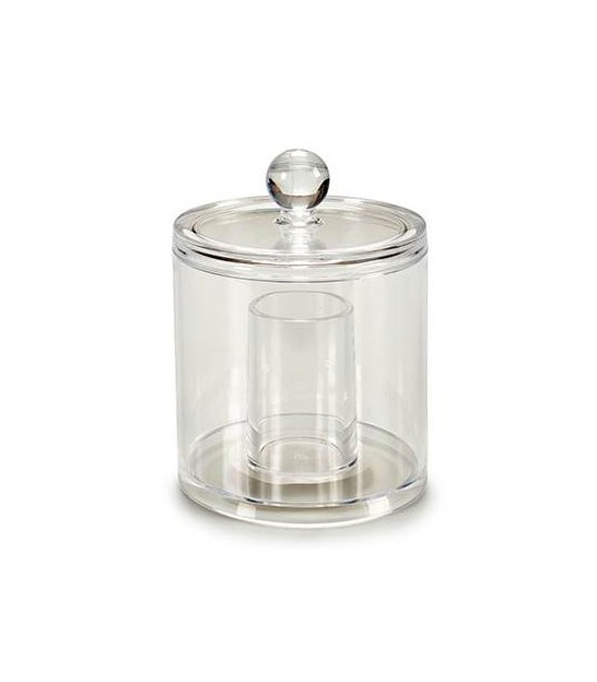 Cotton swabs Dispenser Acrylic Transparent Round