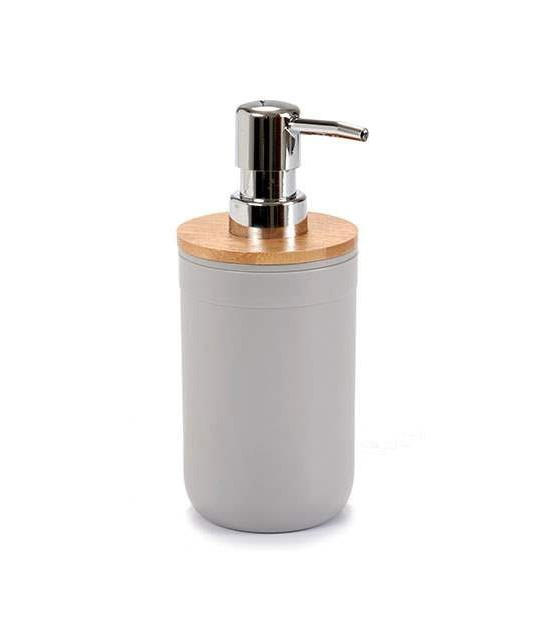 Soap Dispenser Grey and Bamboo