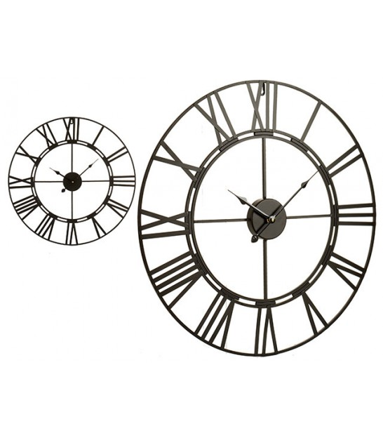 Antique Black Iron Wall Clock