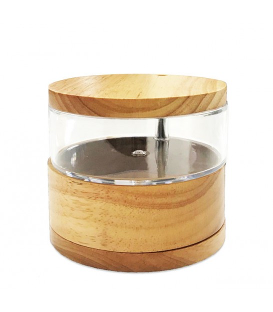 Jewelery Box 2 Rotating Discs Wood and Acrylic