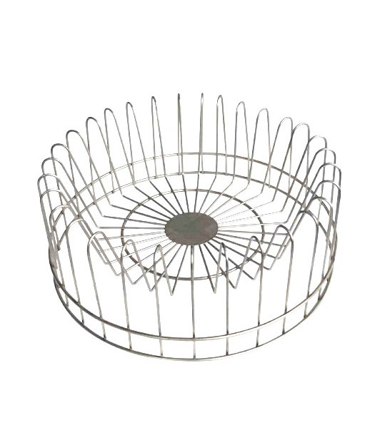 Round Dish Rack Grey Metal