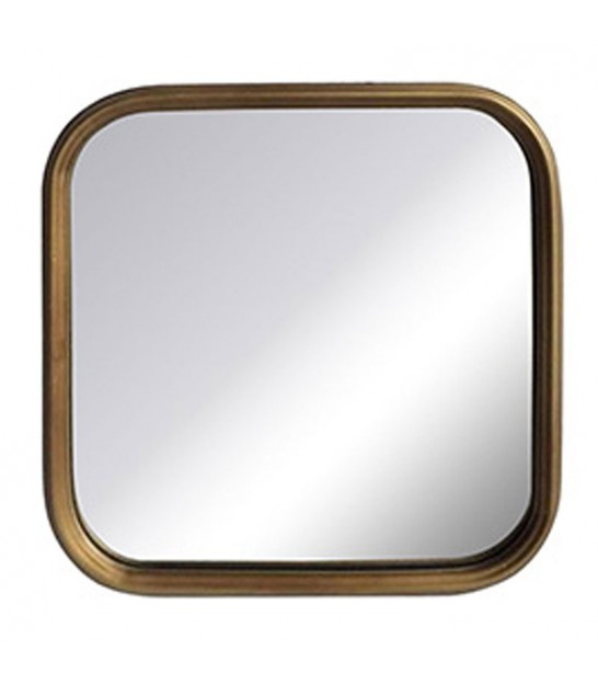 Wall Mirror Gold Square - 28x28cm