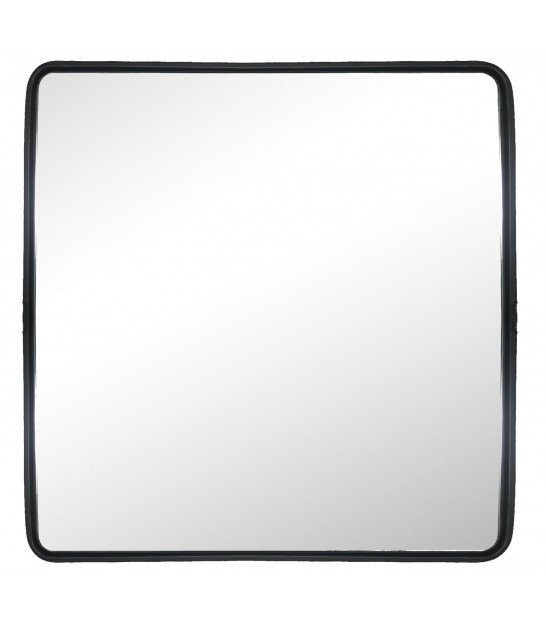 Wall Mirror Black Metal Square - 60x60cm