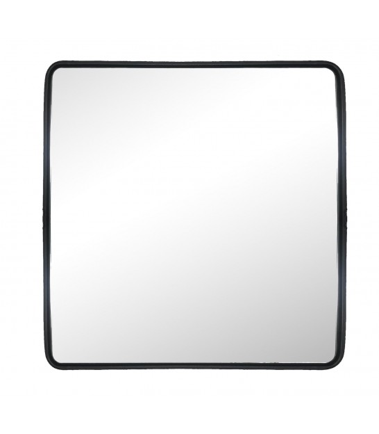 Wall Mirror Black Metal Square - 35x35cm