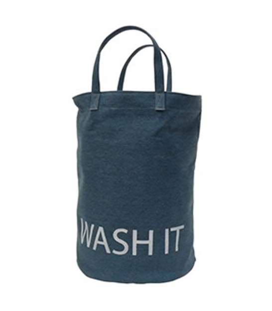 Laundry Basket Blue Wash it