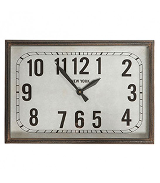Rectangular Wall Clock New York