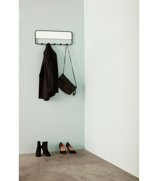 Wall Coat Rack 7 hooks with Mirror