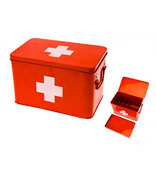 Red and White Cross Pharmacy Box
