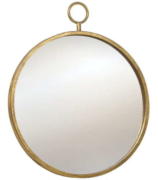 Wall Mirror Round Golden Metal - Diameter 40cm