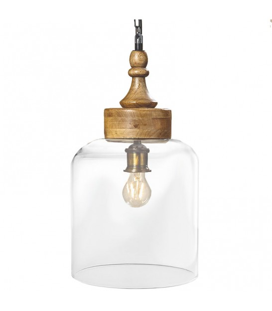 Ceiling Lamp Wood and Glass