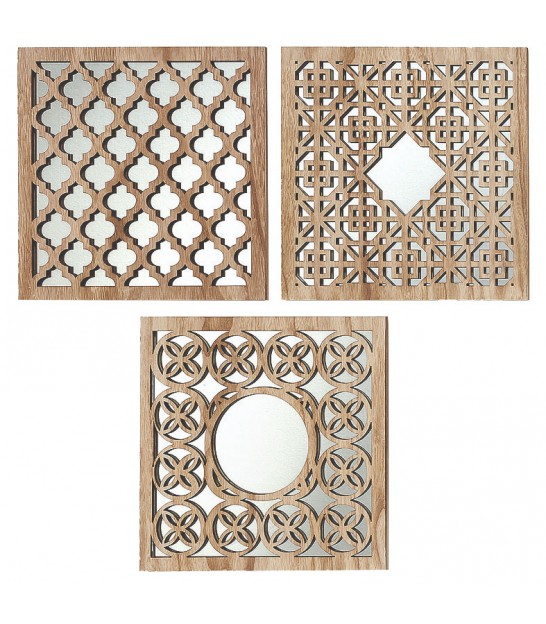 Wall Mirror Gold Polypropylen Oriental - set of 5