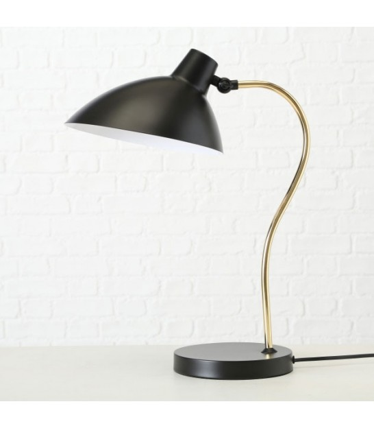 Table Lampe Black and Golden Metal
