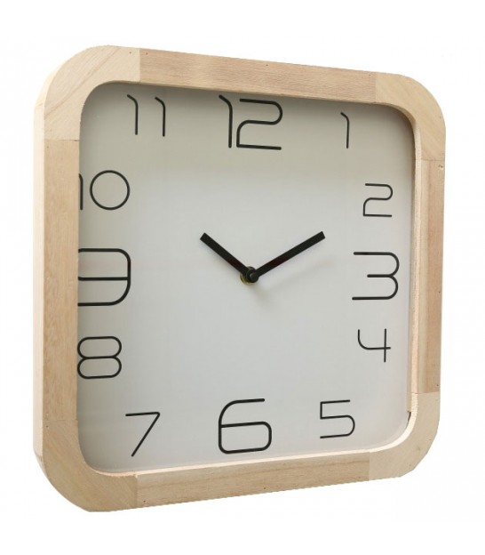 Square Wood Clock