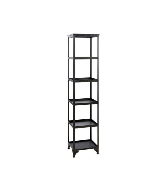 Design Black Metal Shelf - Height 182cm