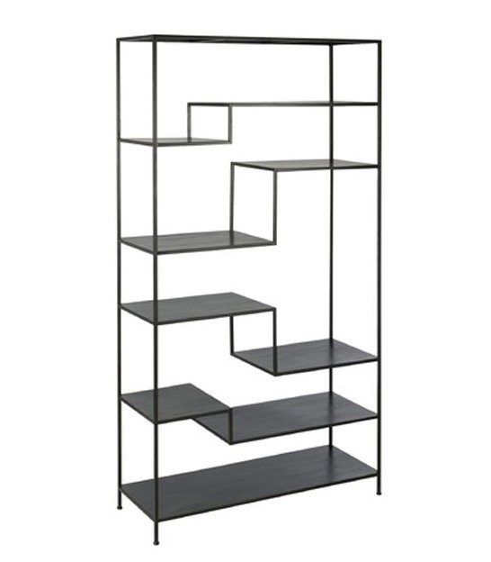 Black Metal Shelf - Height 185cm