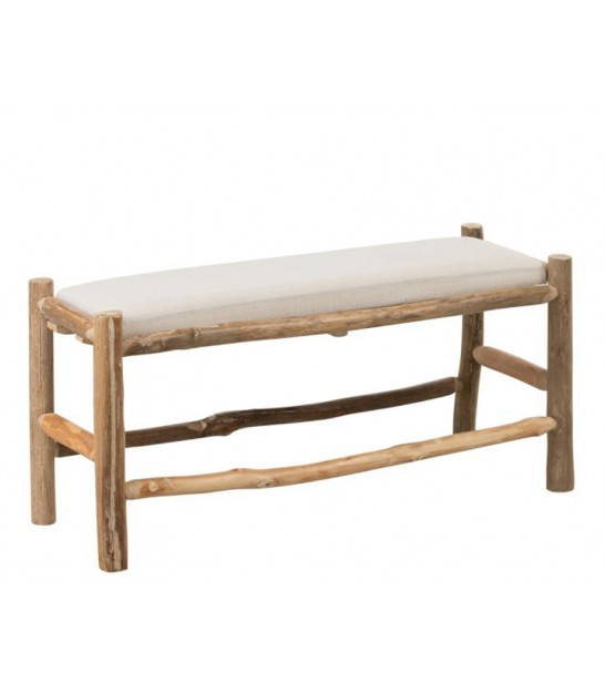 Wood Bench + Cushion