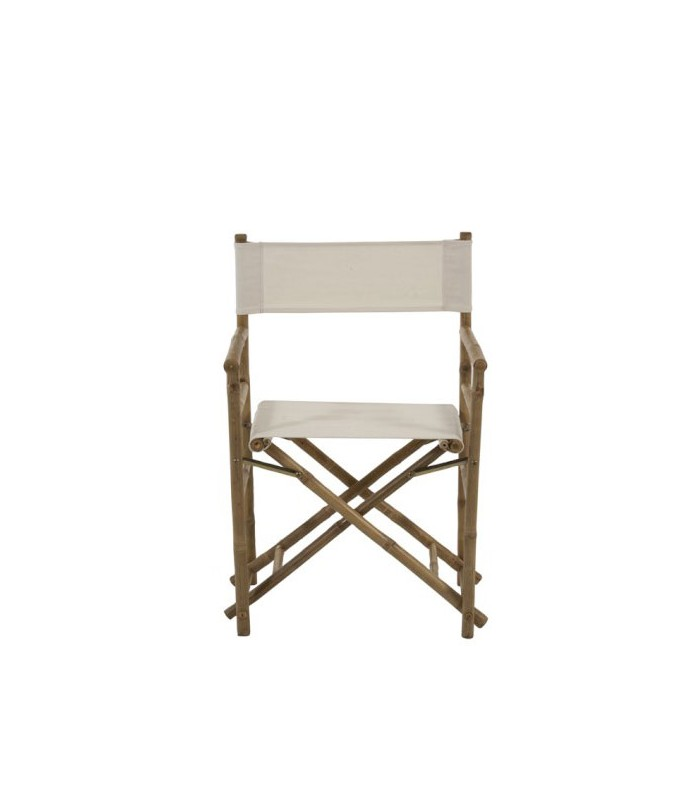 Garden Chair Bamboo and White Tissue