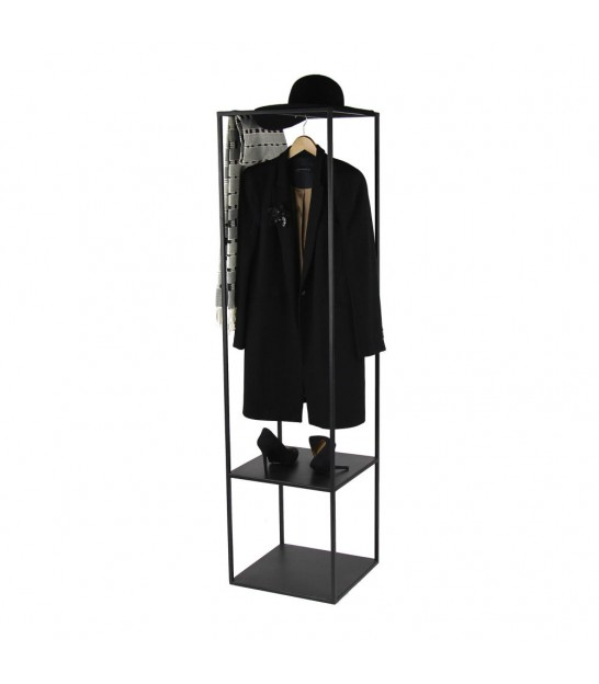 Coat Hanger Black Metal - Height 160cm